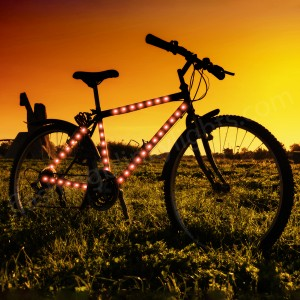 Bike-Frame-LED-Strip-Tape-Red