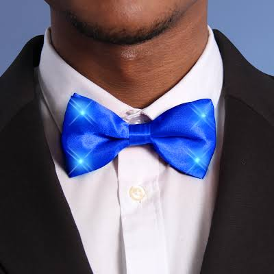 Blue-Bow-Tie-with-Blue-LED-Lights
