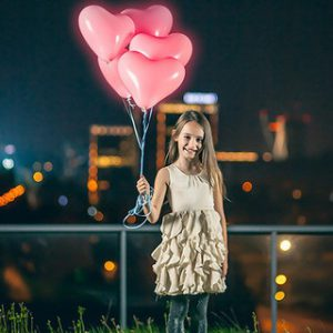 20 globos led 30cm forma de corazón