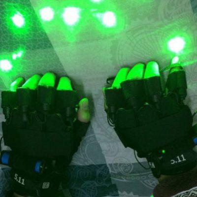 guantes led verdes