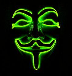 mascara-led-verde